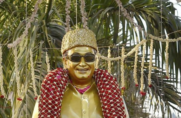 A statue of MGR. PTI file photo.