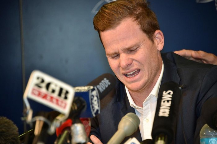 Former Australia captain Steve Smith said he cried for four days after the ball-tampering scandal. AFP
