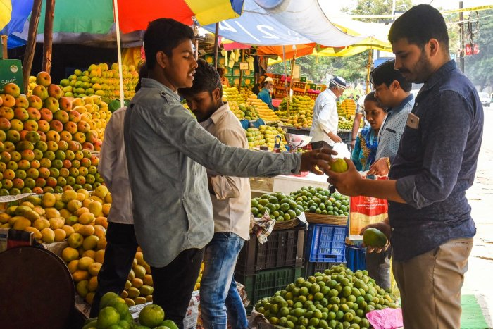 Mango prices have come down towards the end of the season.