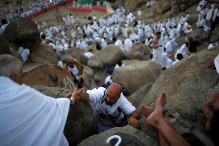 Muslim pilgrims gather on Mount Mercy on the plains of Arafat during the annual haj pilgrimage, outside the holy city of Mecca, Saudi Arabia August 31, 2017. Reuters file photo for representation.