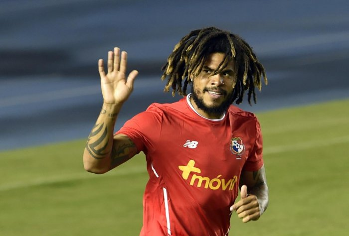 SEASONED Dreadlocked Roman Torres, a lynchpin in Panama defence, will have his hands full at the World Cup. AFP