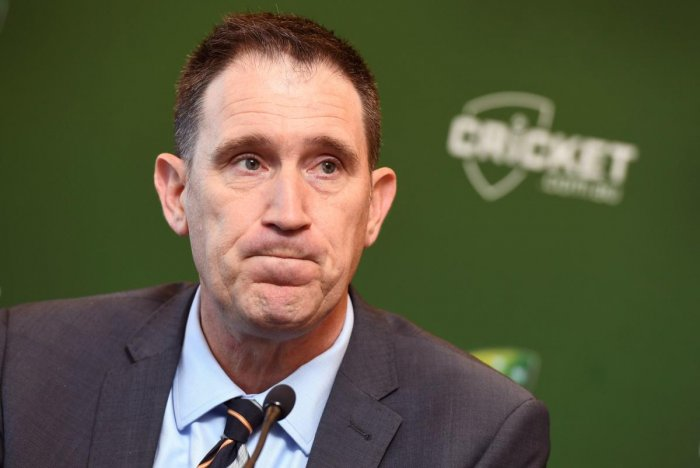 Cricket Australia chief James Sutherland addresses a press conference in Melbourne on Wednesday. AFP
