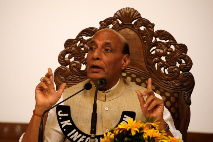 Rajnath lashed out at separatists alleging they were misguiding Kashmiri youth.