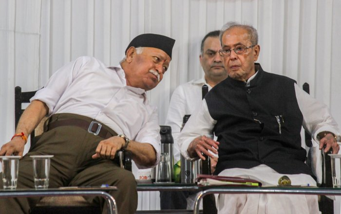 Mukherjee's mere presence at the RSS headquarters had given Congress leaders some anxious moments with senior functionaries Ahmed Patel and Anand Sharma  expressing their strong disapproval of the former President's decision to visit Nagpur.