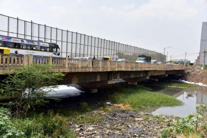 A file photo of the Varthur bridge
