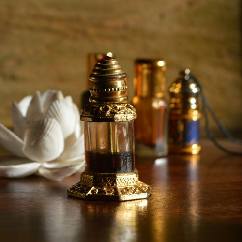 An ornate ittar bottle. Photo by Poorvi Bose