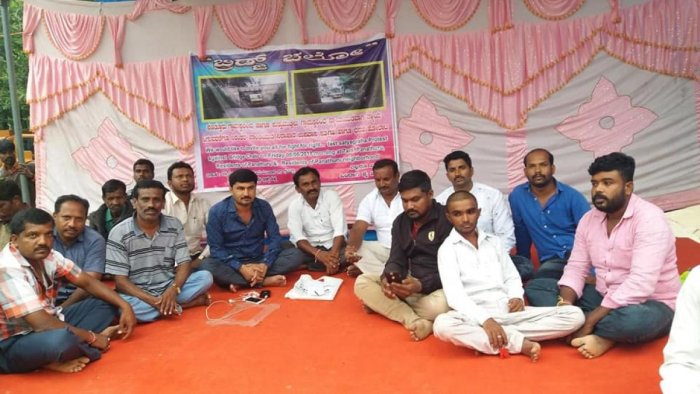 Residents of Varthur staged a protest on Friday.