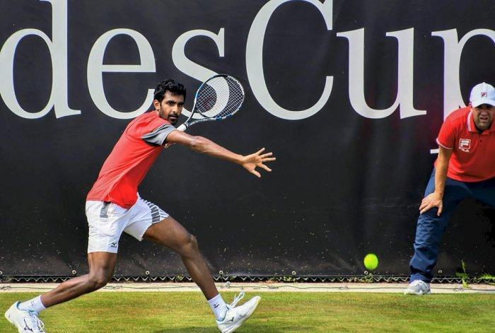 India's Prajnesh Gunneswaran has qualified for singles main draw of an ATP World event for the first time in his career . PTI