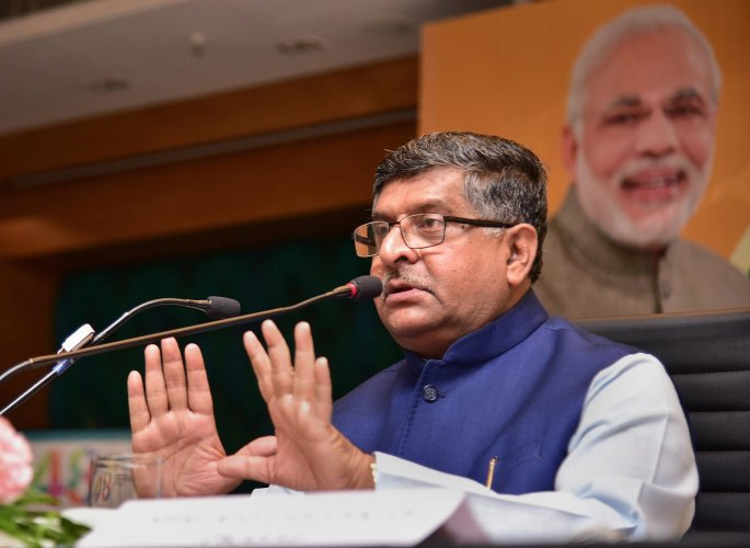 """Law Minister Ravi Shankar Prasad said the executive was not committing a """"cardinal sin"""" by seeking reconsideration of some proposals sent by the Supreme Court Collegium. PTI file photo"""