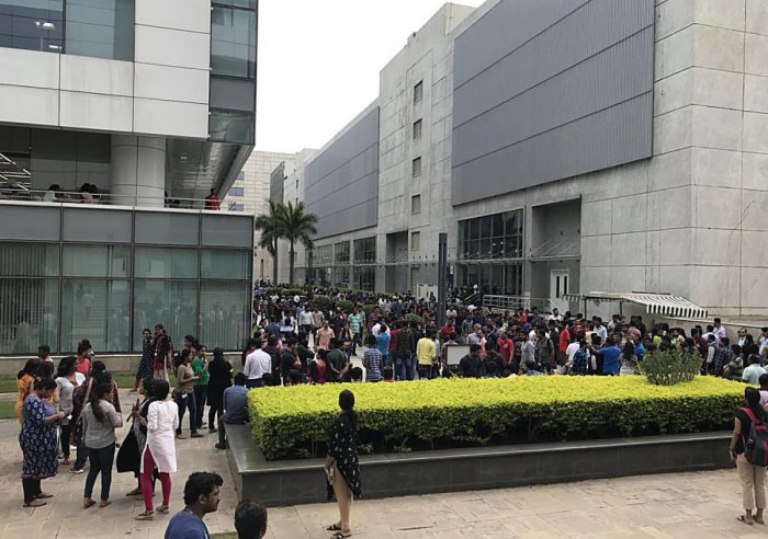 Around 700 employees were evacuated to the safe assembly point from the Cisco buildings in Kadubeesanahalli following a hoax call.