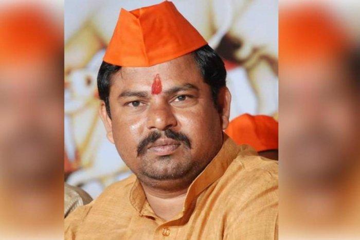 Telangana BJP MLA T Raja Singh Lodh.