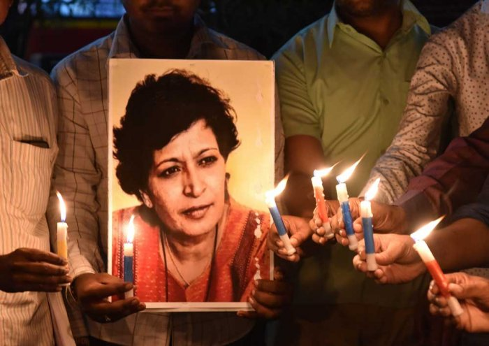 Gauri Lankesh, DH file photo