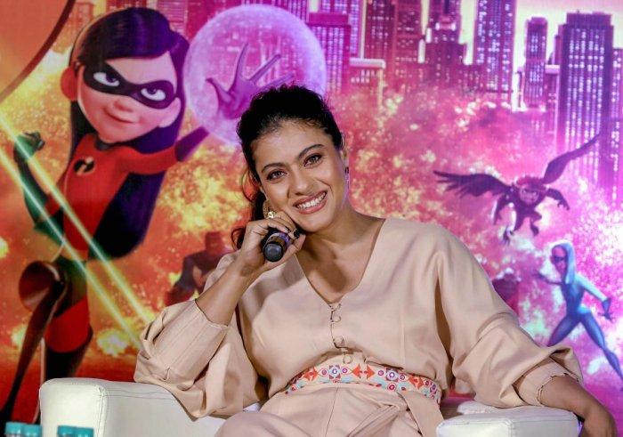 "Kajol, who has dubbed for the character of superhero Helen Parr aka Elastigirl for the Hindi version of upcoming film, ""Incredibles 2"" that releases on June 22, feels it will be cool to play such a character in Bollywood film as she herself is a fan of the genre. PTI photo"