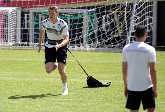 Germany's Matthias Ginter during training, Reuters photo
