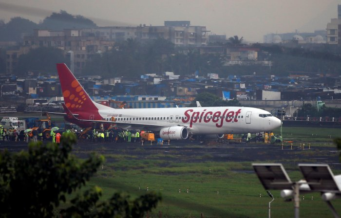 The incident occurred when an IndiGo aircraft with 178 passengers onboard was about to take off for Mumbai. The ATC had asked the SpiceJet flight to remain at the holding point till the IndiGo plane took off. Reuters file photo