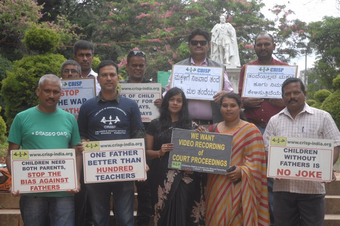 For 11 years, an NGO called CRISP has been protesting on the eve of Father's Day. This picture is from last year