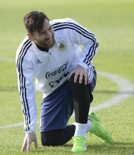 READY STEADY GO! All eyes will be on superstar Lionel Messi when Argentina locks horns against Iceland on Saturday. AFP