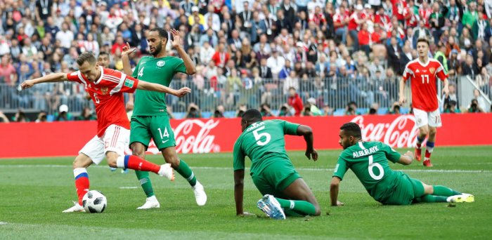 SUPERB START Despite coming to the home World Cup on the back of some poor results, Russia easily dispatched Saudi Arabia on Thursday.