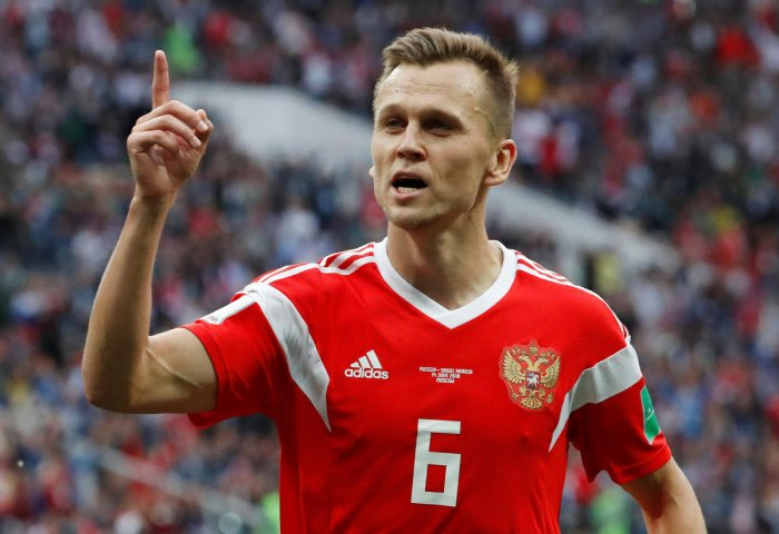 Cheryshev emphatically seized on the opportunity which Russia midfielder Alan Dzagoev's injury presented him by producing a mesmerizing piece of skill to dance past two Saudi Arabia defenders in the area before smashing the ball into the roof of the net for Russia's second goal of the game.