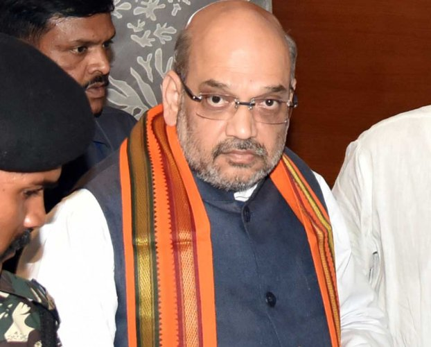 In caption: BJP chief Amit Shah. DH photo.