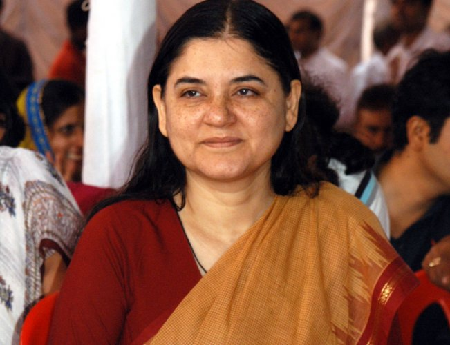 In picture: Union minister Maneka Gandhi. DH file photo.