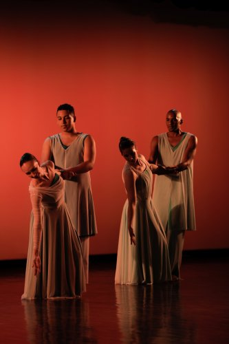 Performers from 'Dakshina' mix bharathanatyam, modern dance and martial arts.