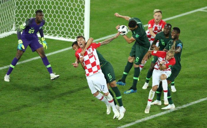 2018 Nigeria's William Troost-Ekong fouls Croatia's Mario Mandzukic in the penalty area REUTERS.