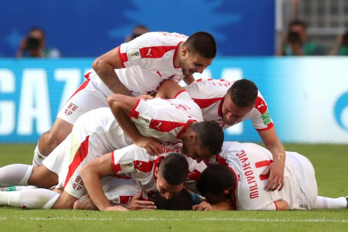 The win puts Serbia in a strong early position in Group E ahead of games against Brazil and Switzerland as they look to reach the last 16. (Reuters Photo)