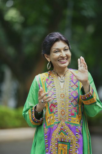 Mallika Sarabhai was in the city for a performance.