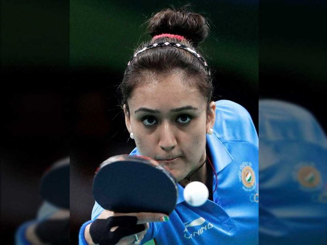 India's Manika Batra caused major upset, beating Austria's World No 18 Sofia Polcanova in a UTT match on Sunday. (DH file photo)
