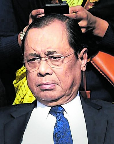 Gogoi is one of the SC judges who went public raising grievances against the CJI in January this year. PTI photo.