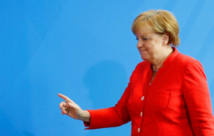 German Chancellor Merkel, Reuters photo