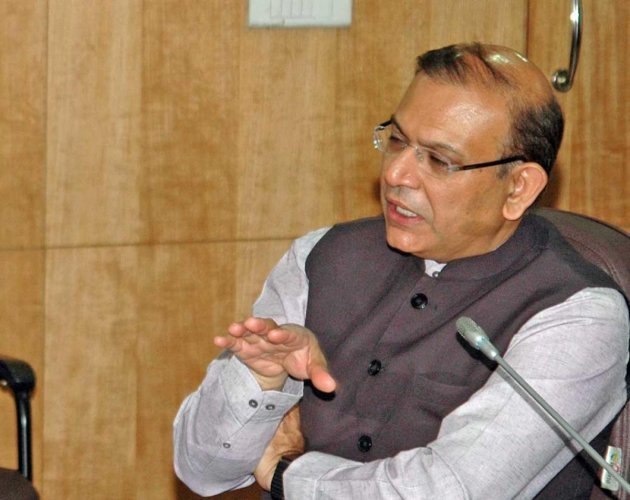 Sinha, the minister of state for civil aviation, said the government is committed to the strategic disinvestment of Air India. (DH file photo)