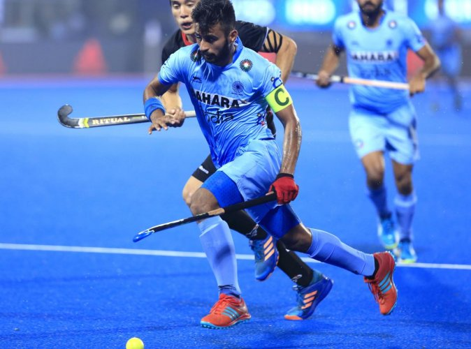 Manpreet Singh (centre) said India has worked hard on scoring goals.