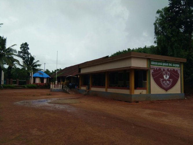 A view of the Punchappady Higher Primary School, Puttur taluk.