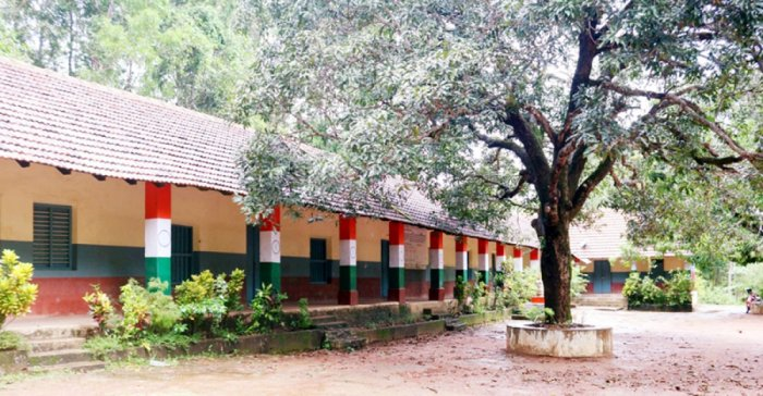 A view of the Belman IttaMary Little Flower Higher Primary School in Karkala.