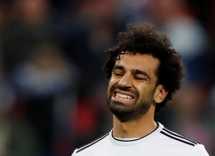 TOUGH TIMES: Egypt's striker Mohamed Salah, known for being a lethal finisher, wasn't at his best against Russia. Reuters