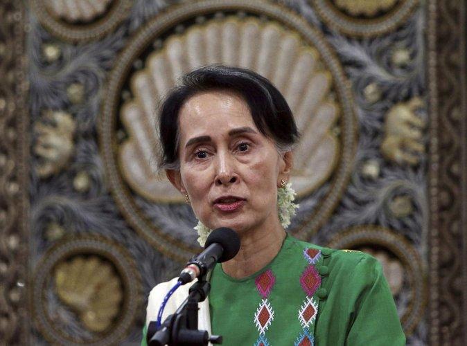 Myanmar leader Aung San Suu Kyi. (AP/PTI file photo)