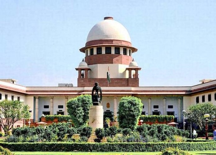 A view of the Supreme Court of India.