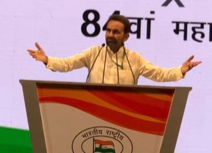 AICC in-charge for Bihar Shaktisinh Gohil. Photo via Twitter.