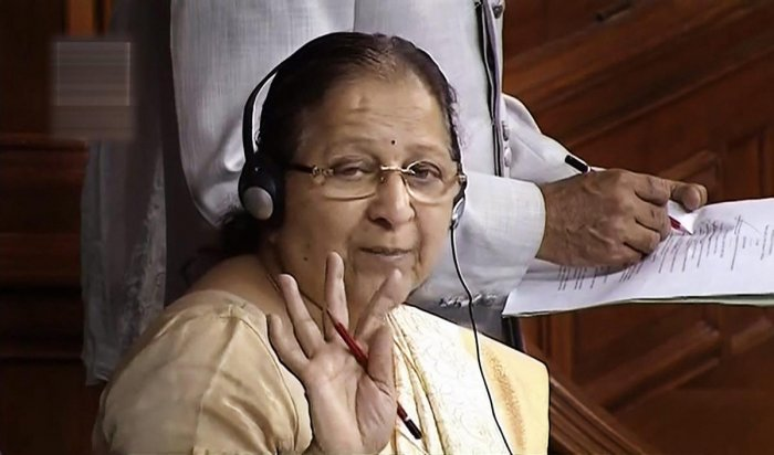"""MPs should realise that people are watching the frequent disruptions in Parliament and will take an """"appropriate decision"""" at election time, Lok Sabha Speaker Sumitra Mahajan said on Friday ahead of the Monsoon session which is likely to begin next month. PTI file photo"""