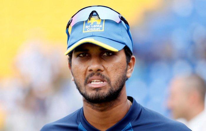 Sri Lanka's captain Dinesh Chandimal. Reuters