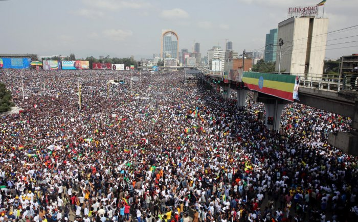 Ethiopians attend a rally in support of the new Prime Minister Abiy Ahmed in Addis Ababa, Ethiopia. Reuters photo