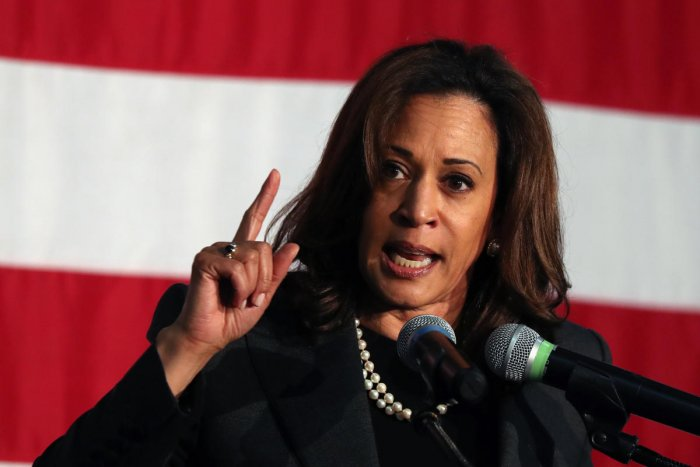 Kamala Harris demanded immediate reunification of separated families. (Reuters file photo)