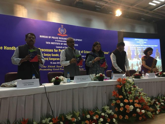 The handbook was released by Minister for Women and Child Development Maneka Gandhi, in New Delhi on Tuesday. (pic @MinistryWCD)