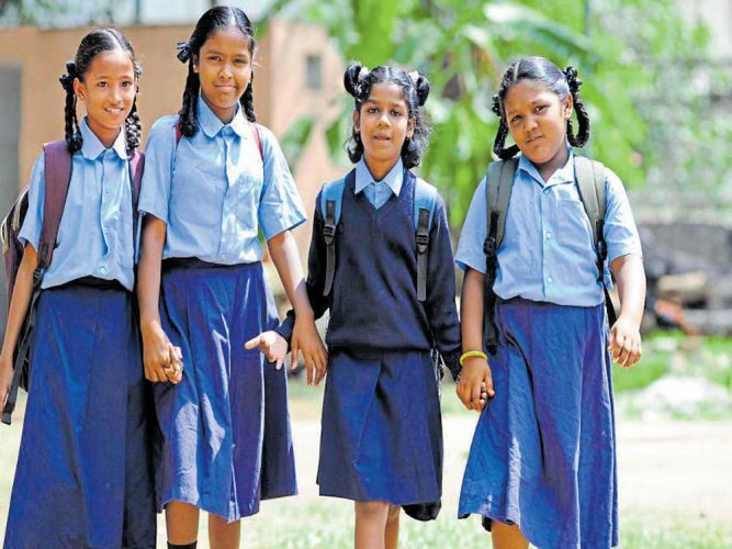 Dakshina Kannada, Yadgir, Haveri, and Gadag districts from Karnataka have been selected for the Central government's Beti Bachao, Beti Padhao Yojana. DH file photo