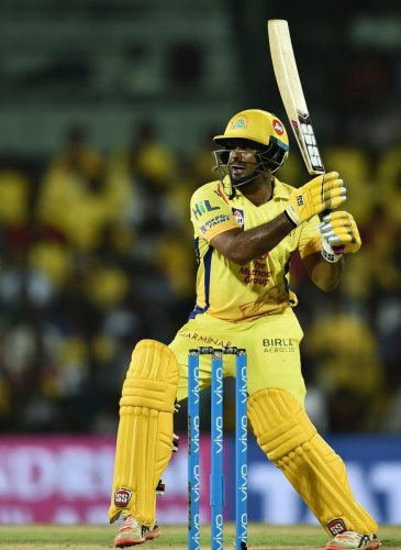 Ambati Rayudu was one of the top run-getters in the IPL but was dropped from the Indian team after failing the Yo-Yo test early this month. PTI File Photo
