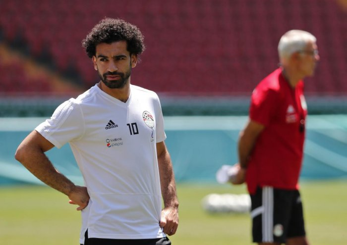 FINAL HURRAH: Egypt's forward Mohamed Salah would want to finish off his 2018 World Cup campaign on a high. AFP