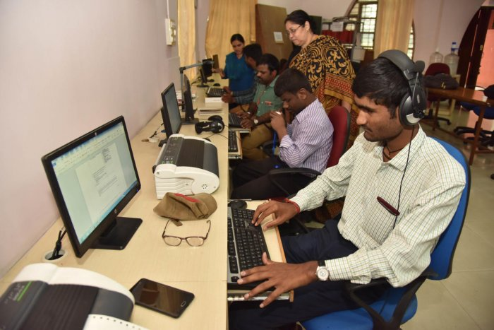 The Braille Resource Centre at the Bangalore University. DH Photo/Janardhan B K