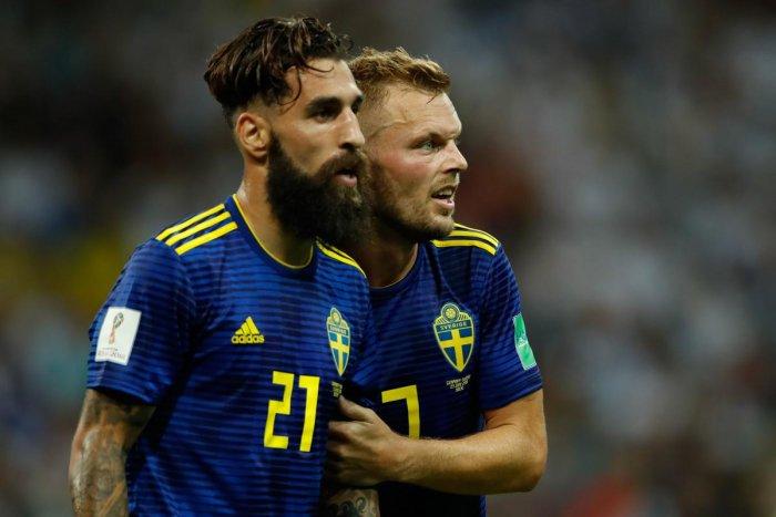Jimmy Durmaz (left) with Sebastian Larsson.